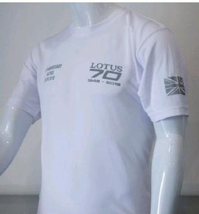 Lotus T-Shirt 70 Jahre weiß