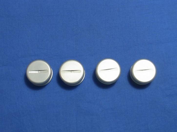 Fussmattenbefestigungssatz silber oder schwarz