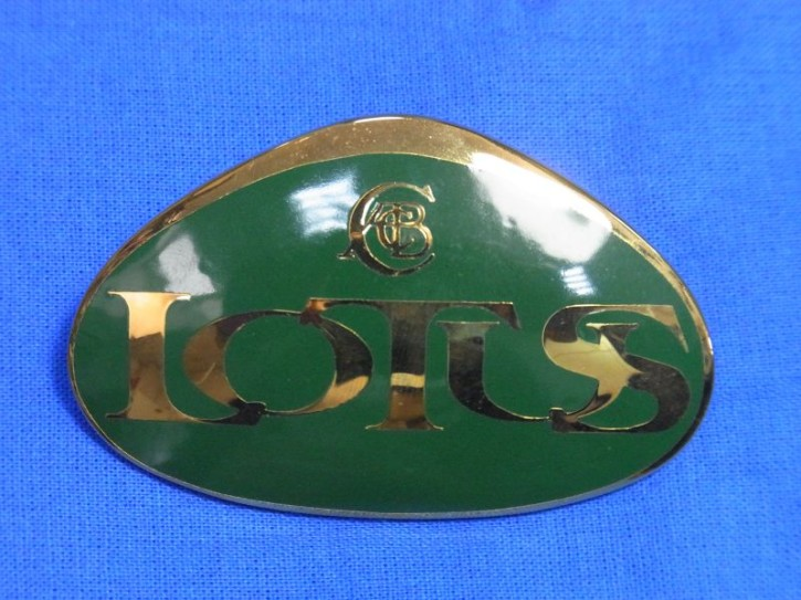 Lotus Nose Badge (Emaille grün-gold)