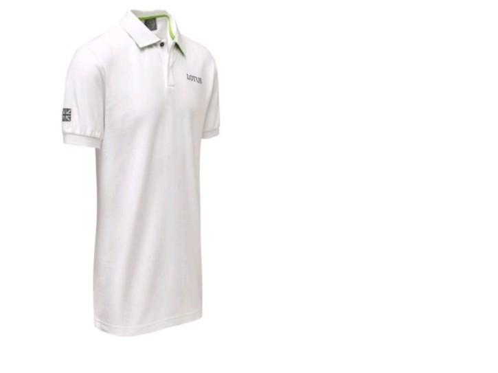 Lotus Polo-Shirt weiß