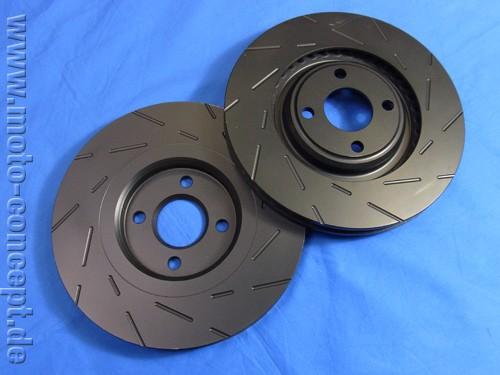 Lotus Bremsscheiben Sport geschlitzt & beschichtet (2 Stück)