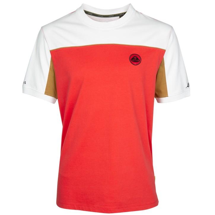 Lotus Männer T-Shirt weiß/rot
