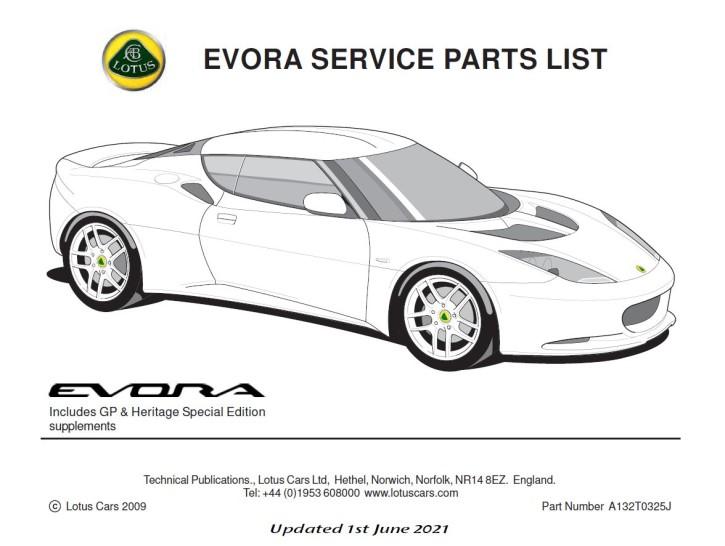 Service Parts List Evora