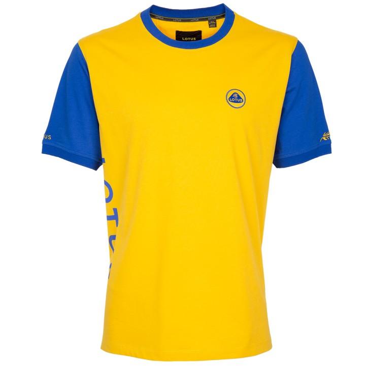 Lotus Männer T-Shirt gelb/blau