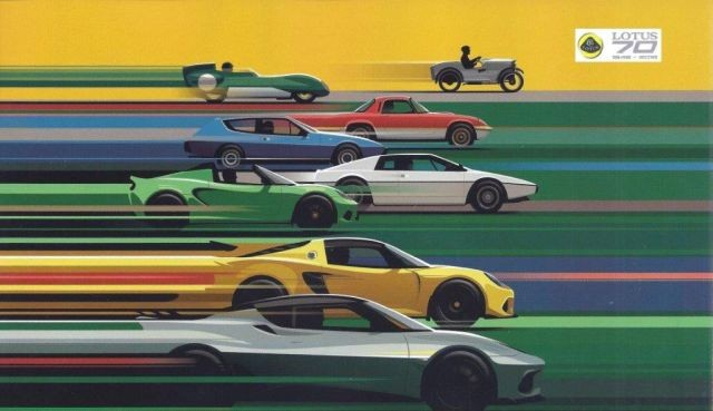Lotus Poster 70 Jahre