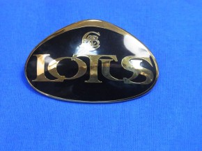 Lotus Nose Badge (Emaille schwarz-gold)