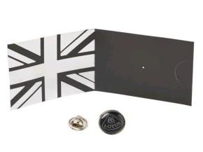 Lotus Pin grau/silber
